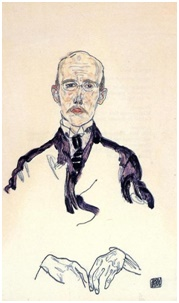Porträt von Karl Mayländer, 1917 von Egon Schiele (1890-1918, Croatia) | Gemälde Reproduktionen Egon Schiele | ArtsDot.com